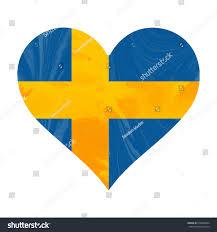 Sweedish Flag Heart Swedish Flag Stock Illustration 616906964 Shutterstock