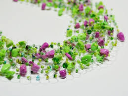 crochet beads necklace pattern images Airy crochet necklace tutorial using fishing line the beading jpg