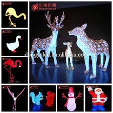 kuwait sales animal shpe outdoor sika deer led motif light for