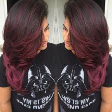black hair to raspberry hair ombre brown hair weavy long beauty tips pinterest ombre