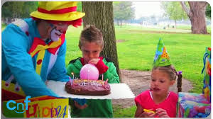 clowns for birthday clumsy clown clown ruins birthday cake