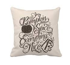 Home Decor Throw Pillows Amazon Com Pumpkin Spice Fall Halloween Home Decor Throw Pillow