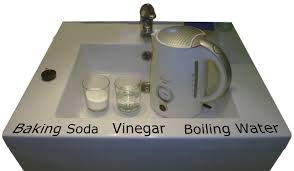 clogged sink baking soda baking soda and vinegar to clean drain baking soda and vinegar to