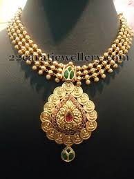 small necklace designs images Pr jewellery lakshmi necklace jewellery designs jpg