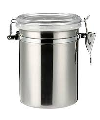 stainless steel canisters kitchen hiware 65 ounce airtight canister stainless steel canister with