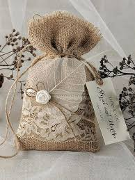 burlap favor bags burlap bags for wedding favors rustic chic burlap and lace