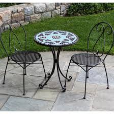 Wrought Iron Bistro Table Appealing Outdoor Patio Furniture Ideas Featuring Trendy Black