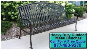 Heavy Duty Garden Bench Outdoor Metal Benches