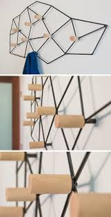 this geometric coat rack could also double as wall art contemporist