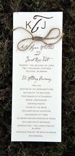 rustic wedding programs 15 non traditional wedding programs wedding programs