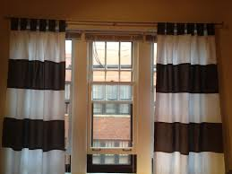 Black And White Striped Curtain Panels Horizontal Striped Curtains For Sale