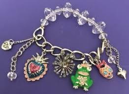leather charm bracelet ebay images Betsey johnson charm bracelet ebay JPG
