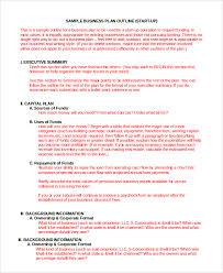 business plan sample in word 10 examples in word