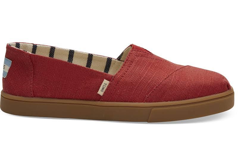 TOMS Alpargata Cupsole Flats Red- Womens