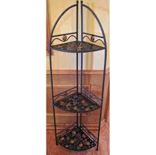Red Bakers Rack Furniture Best Wrought Iron Corner Bakers Rack Design Ideas