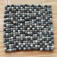 Nepal Felt Ball Rug Aliexpress Com Buy Pinjeas 40cm Round Square Shape Handmade