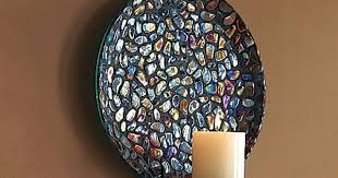 Glass Wall Sconces For Candles Sconce Mosaic Wall Sconce Candle Holders Kane Shraders Mosaic