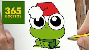 imagenes de un sapo para dibujar faciles como dibujar una rana para navidad paso a paso dibujos kawaii