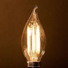 saving 6 watt led filament candelabra light bulb dimmable soft