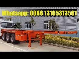 shipping container trailer price 20ft 40ft skeletal chassis semi