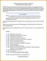 Durable Power Of Attorney Example by 7 Power Of Attorney For Health Care Form California Attorney