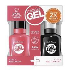 gel nail light sally s beauty sally hansen miracle gel nail polish pretty piggy 1 ounce ebay