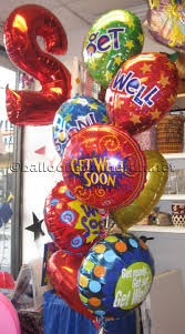 get well soon balloons balloons on the run party decorations r us balloon bouquets