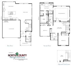 Homes For Sale With Floor Plans Manzanita Cove Floor Plans New Homes In Encinitas Ca