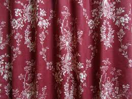 deep red french country curtains cottage decor red toile