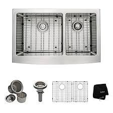 kraus farmhouse sink 33 kraus farmhouse apron stainless steel 33 inch 60 40 2 bowl kitchen