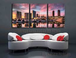 Home Decor Stores In San Diego Aliexpress Com Buy San Diego Harbor Picture Sunset Landscape
