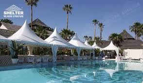 wedding ceremony canopy high peak gazebo canopy sales for pool side wedding