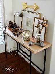 ikea entryway table ikea vittsjo hack a farmhouse entryway table my fabuless life