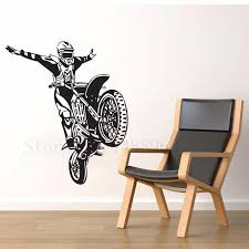 e689 personalized wall stickers home decor diy poster mural vinyl e689 personalized wall stickers home decor diy poster mural vinyl decal boy room dirt bike motorcycle