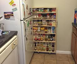 hidden fridge gap slide out pantry small apartments pantry and
