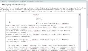 Text Decoration Html How To Modify The Suspended Account Page In Whm Kualo Limited
