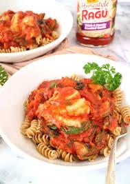 cod with rotini ragu homestyle pasta sauce