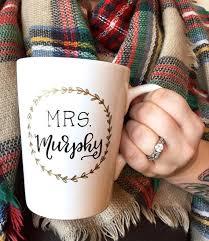 newlywed gift gifts for mrs mug new last name wedding gift newlywed