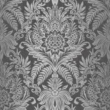 black and silver damask wallpaper palazzo 290400 by arthouse