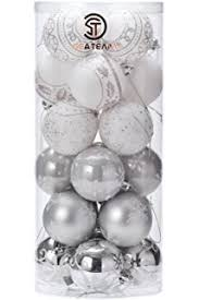 valery madelyn 50ct silver and white snow forest