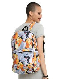 loungefly disney lady tramp characters print backpack