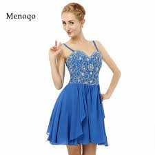 where to buy 8th grade graduation dresses aliexpress buy blue a line beaded spaghetti chiffon