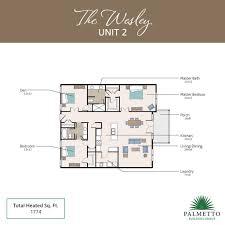 12x12 Kitchen Floor Plans by Villas At Gascoigne St Simons Homes For Sale Palmetto Building