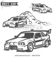 coloring pages drifting cars drift car stock images royalty free images vectors