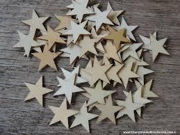 50 little wood stars very small 1 inch size craft wood cutouts