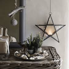 White Christmas Ornaments Uk by Hanging Star Tealight Christmas Room Decorations Christmas