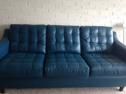 Bobs Furniture Clearance Pit by Decor Enchanting Blue Microfiber Upholstered Sofa By Bobs
