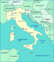 map of germany and surrounding countries with cities map of italy italy map showing cities islands rivers and seas