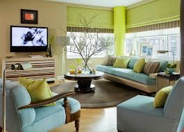 blue green living room combination of the green color in the interior