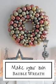 make your own metallic bauble wreath to create a stylish christmas